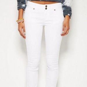 White low/mid-rise jeans size US 00